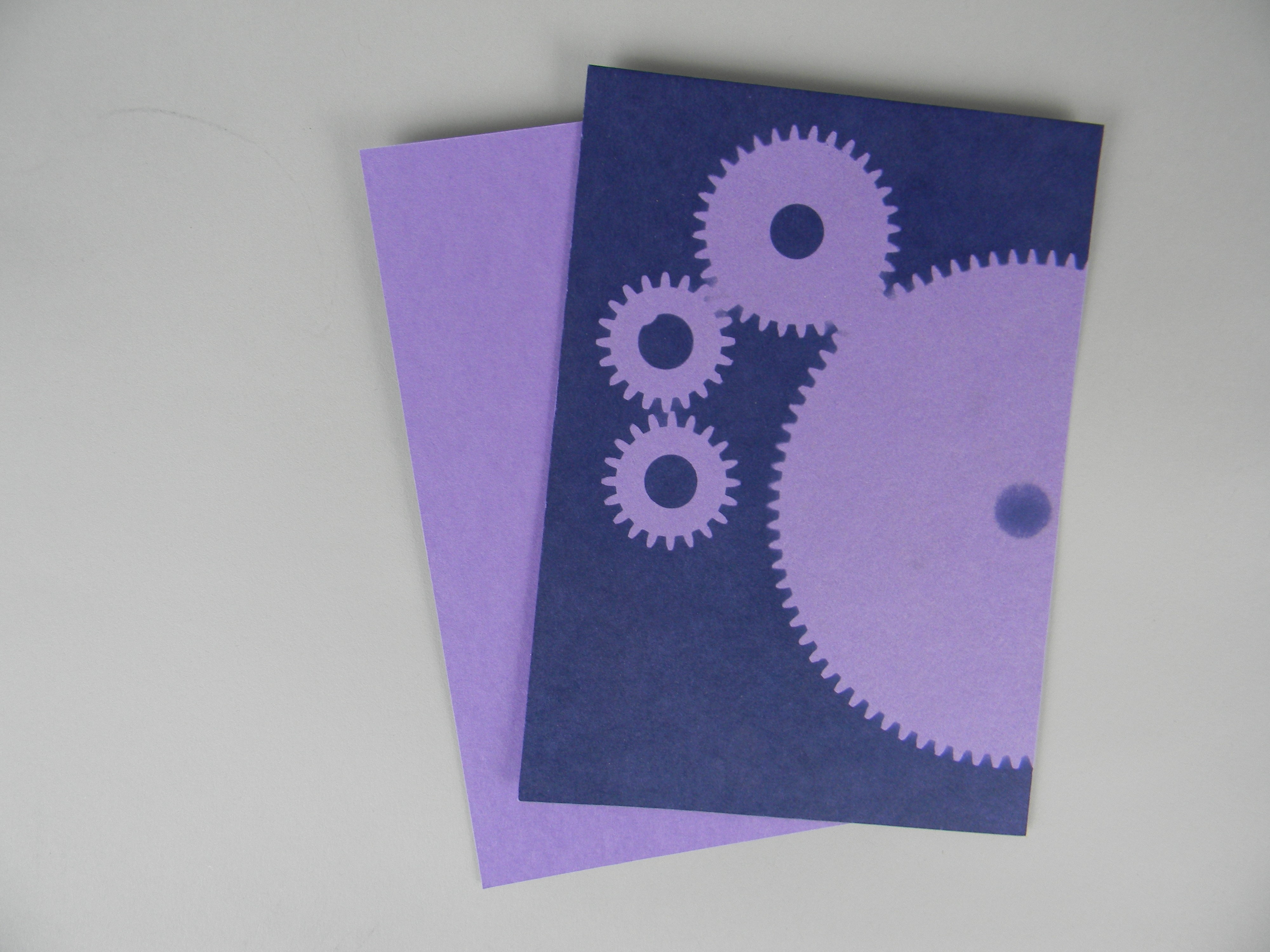 "5"" x 7"" cyanotype paper (purple lilac)"