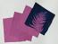 """8"""" x 8"""" cyanotype cotton squares (violet)"""