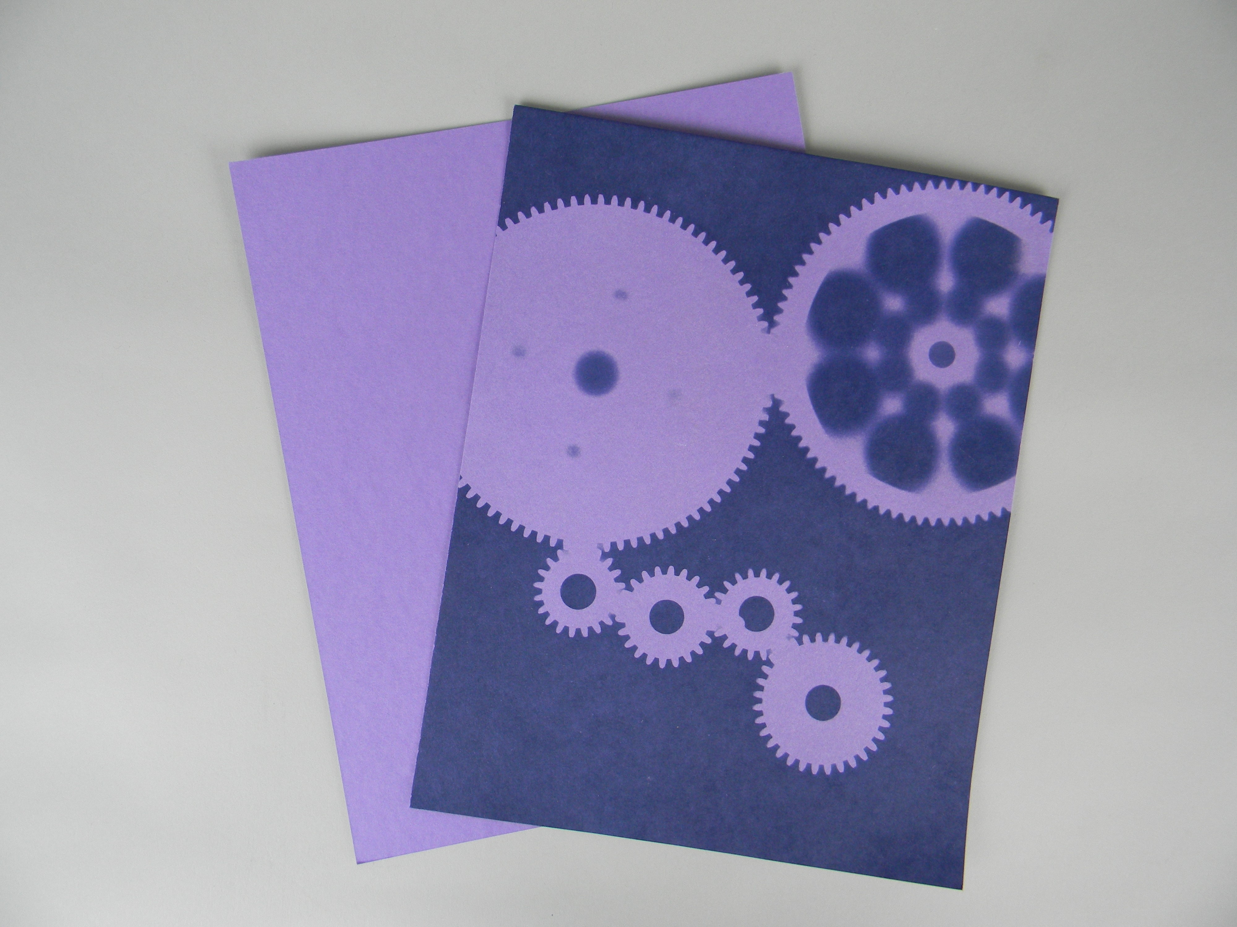 "8"" X 10"" cyanotype paper (Purple Lilac)"