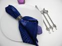Cyanotype Cotton Table Napkins - Lavender
