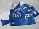 Cyanotype Cotton Table Napkins - White