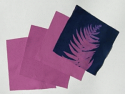 "6"" x 6"" cyanotype cotton squares (violet)"