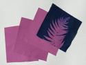 """6"""" x 6"""" cyanotype cotton squares (violet)"""