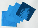 "8"" x 8"" cyanotype cotton squares (turquoise)"
