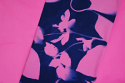 "cyanotype cotton fabric ""by the yard"" (raspberry) - 45"" wide"