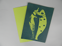 "5"" x 7"" cyanotype paper (Green Apple)"